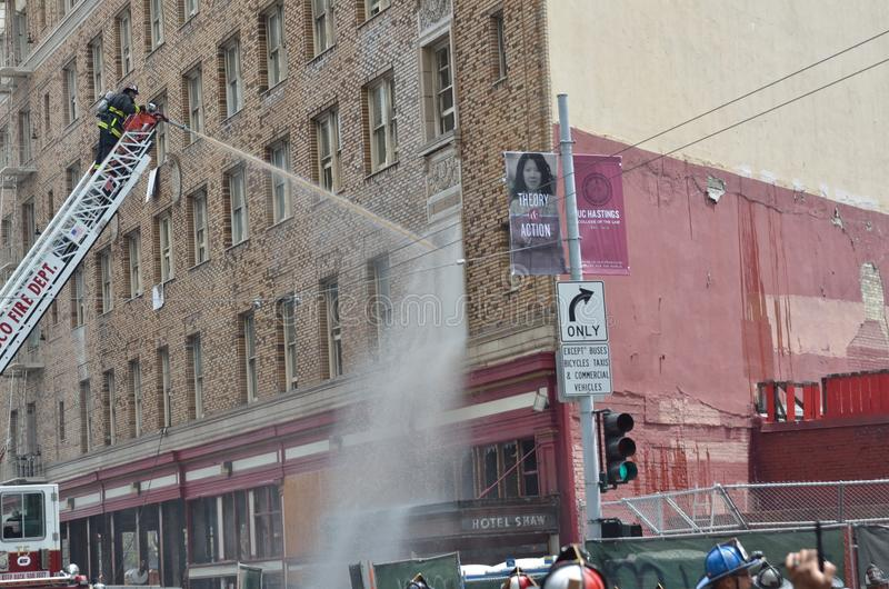 San Francisco Hotel Fire. Afternoon fire at San Francisco Hotel royalty free stock photography