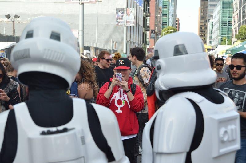 San Francisco How Weird Festival 2014. Celebrating Science Fiction and UFOs stock photos
