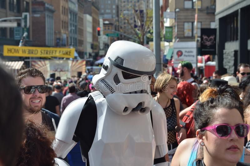 San Francisco How Weird Festival 2014. Celebrating Science Fiction and UFOs stock photography