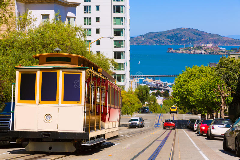 San Francisco Hyde Street Cable Car California photographie stock