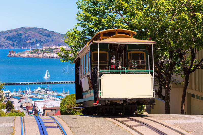 San Francisco Hyde Street Cable Car California arkivfoto