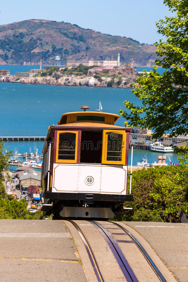 San francisco Hyde Street Cable Car California royalty free stock photography