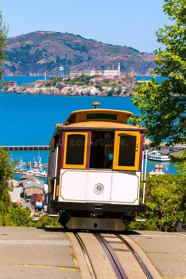 San francisco Hyde Street Cable Car California. San francisco Hyde Street Cable Car Tram of the Powell-Hyde in California USA stock photography