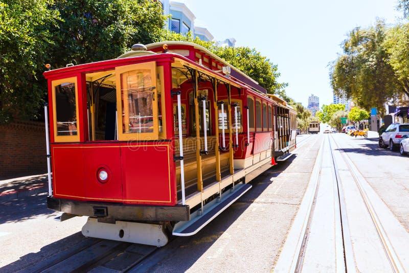 San francisco Hyde Street Cable Car California stock images