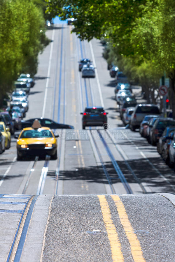 San Francisco Hyde Street Nob Hill in California fotografie stock libere da diritti