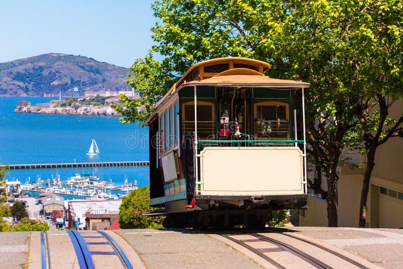 San Francisco Hyde Uliczny wagon kolei linowej Kalifornia