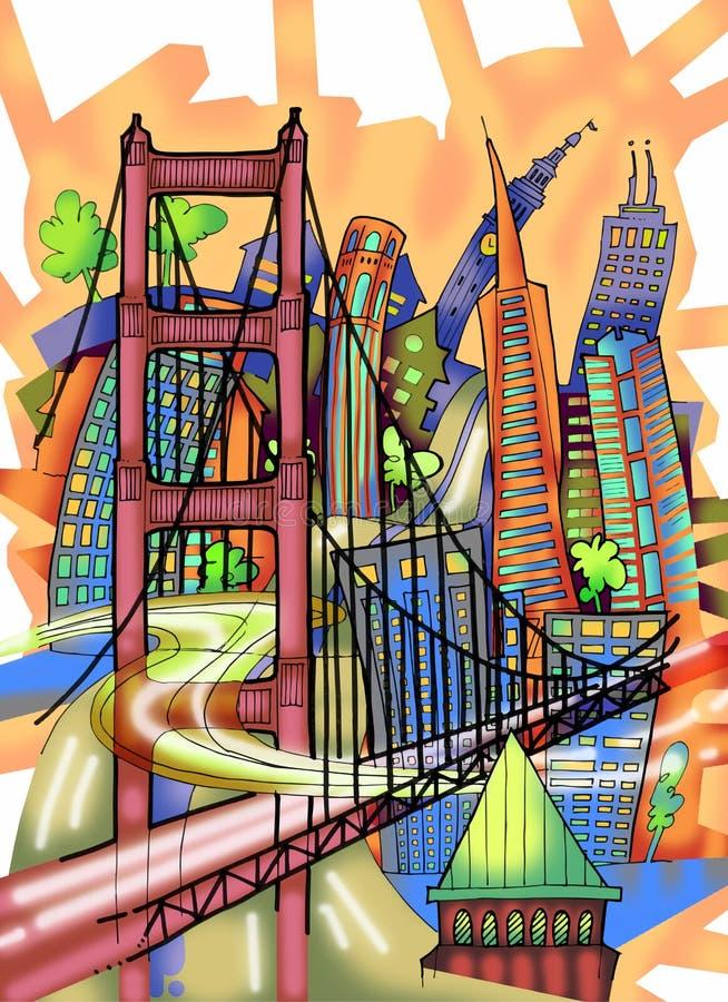 San Francisco Illustration illustration de vecteur