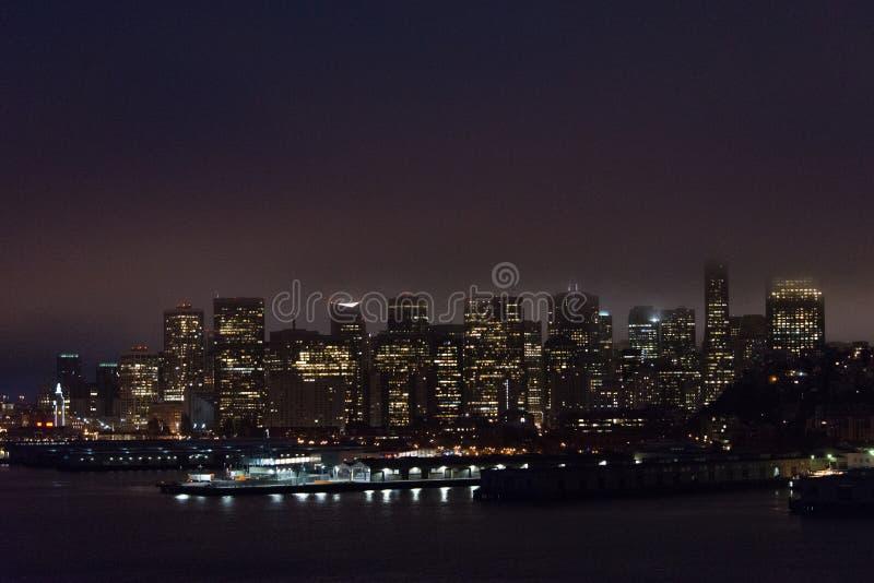 San Francisco iluminado, Califórnia foto de stock royalty free