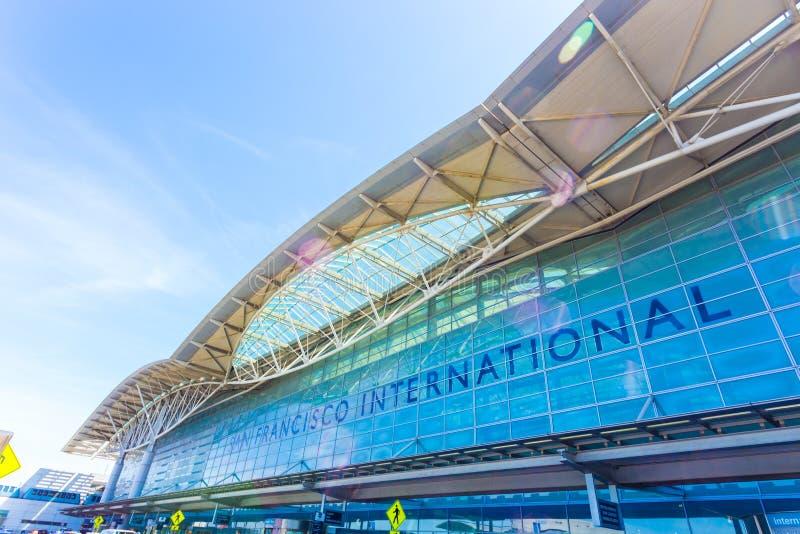 San Francisco International Aiport Entrance H imagenes de archivo