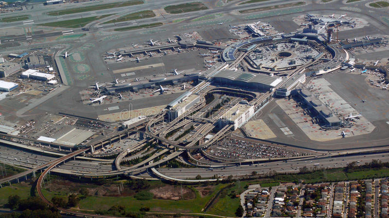 Download San Francisco International  Airport From The Air Stock Image - Image: 39612181
