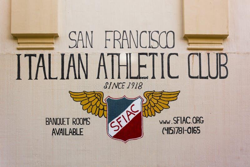 San Francisco Italian Athletic Club imagen de archivo libre de regalías