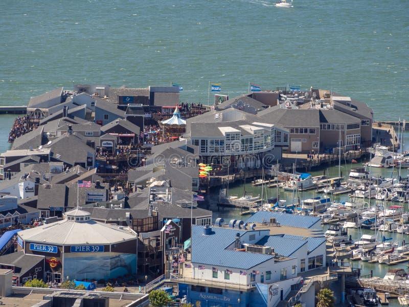 San Francisco, Kalifornia, usa: Fishermans nabrzeże obraz stock