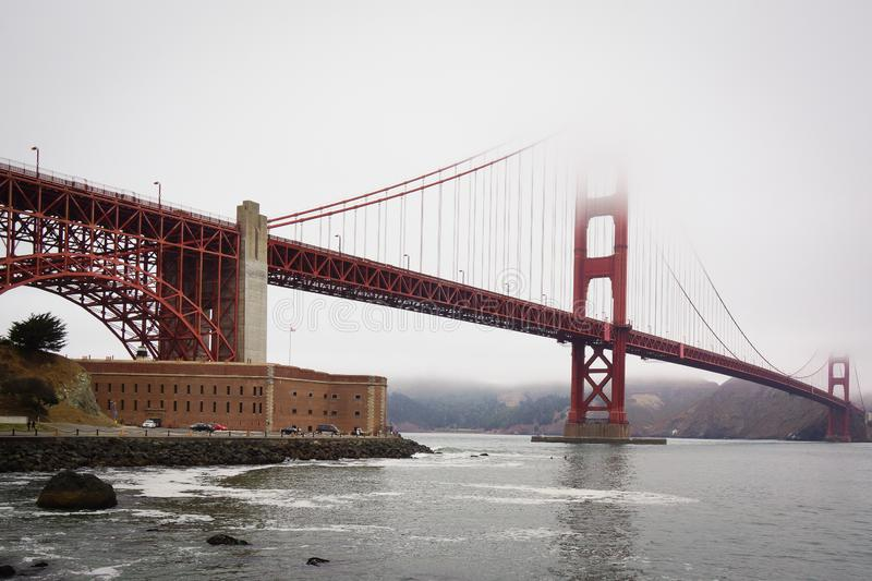 San Francisco Kalifornia usa Golden Gate Bridge obrazy royalty free
