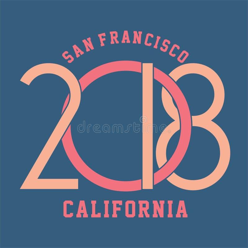 San Francisco, Kalifornien stock abbildung