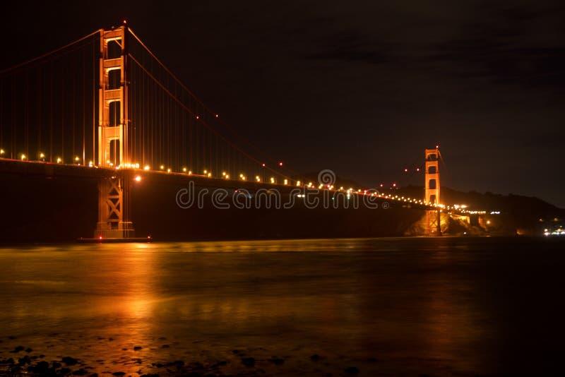 SAN FRANCISCO KALIFORNIEN, FÖRENTA STATERNA - NOVEMBER 25th, 2018: Golden gate bridge som sedd från fortpunkt förbiser är royaltyfri bild