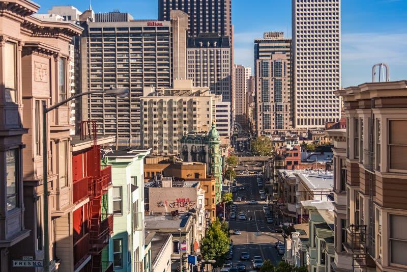 San Francisco Kearney Street übersehen lizenzfreie stockfotos