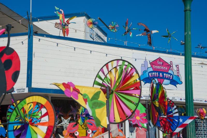San Francisco Kites e giocattoli fotografia stock