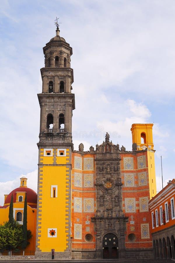 San Francisco kościół w Puebla II zdjęcia royalty free