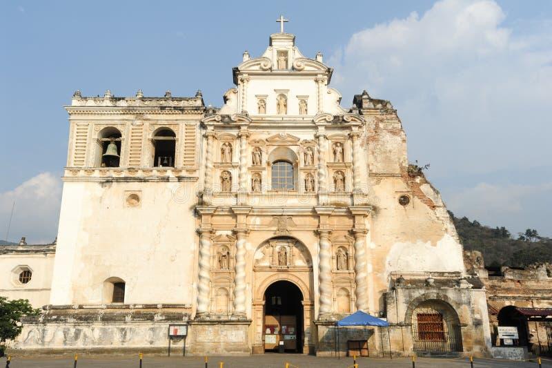 San Francisco kyrka på Antigua arkivbilder