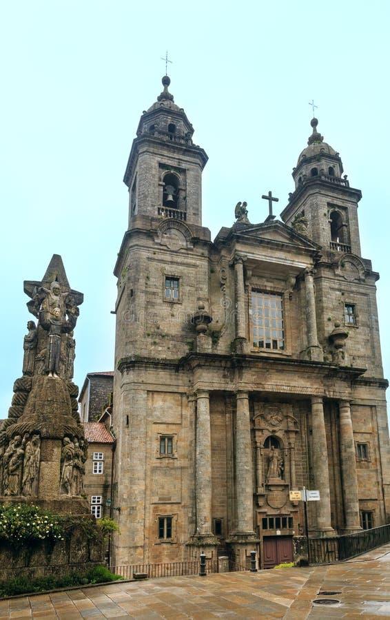 San Francisco kyrka, Santiago de Compostela, Spanien royaltyfri fotografi