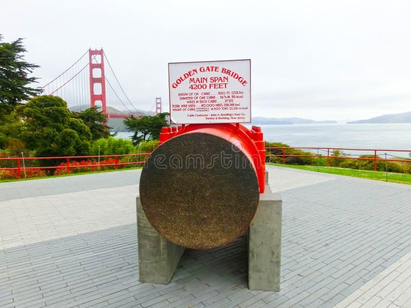 San Francisco, la Californie, Etats-Unis d'Amérique - 4 mai 2016 : Le pont en porte d'or photo libre de droits