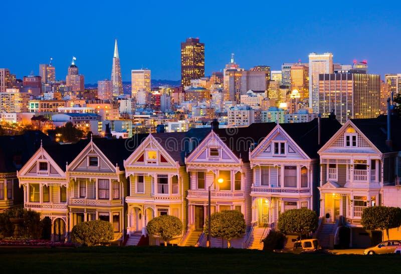 San Francisco la nuit photo stock