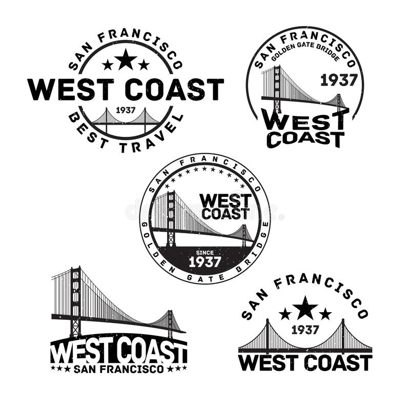 San Francisco Logo Stamp illustrazione di stock