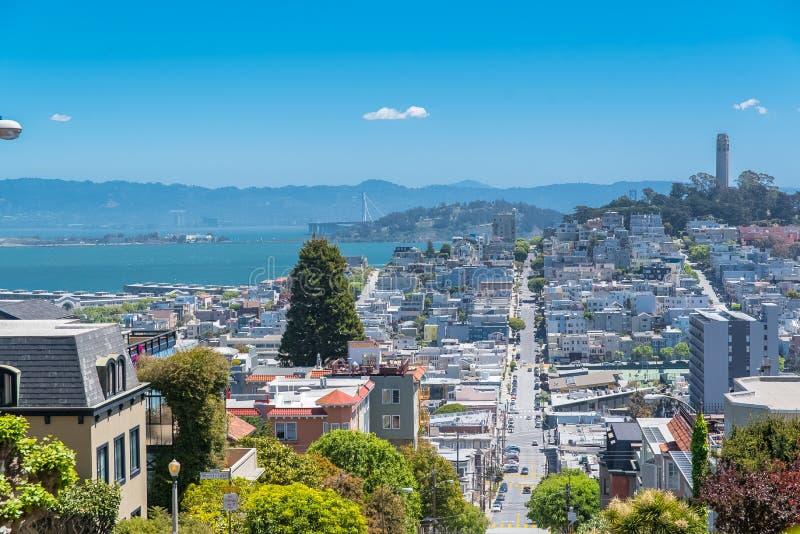 San Francisco, Lombard Street lizenzfreies stockbild