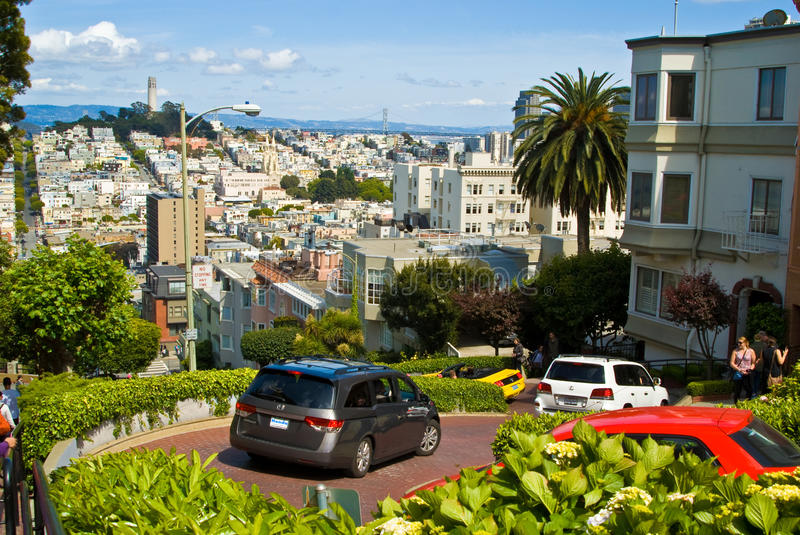 San Francisco Lombard Street royalty free stock images