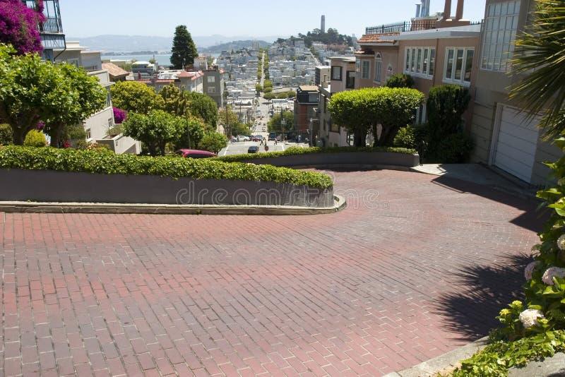 San francisco lombardu street zdjęcia royalty free