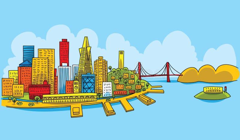 San Francisco luminoso illustrazione di stock