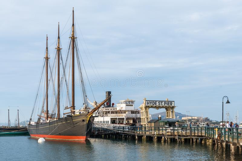 San Francisco Maritime National Historical parkerar royaltyfri bild