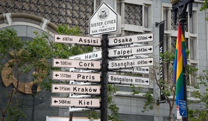 San Francisco miasta znak obraz royalty free