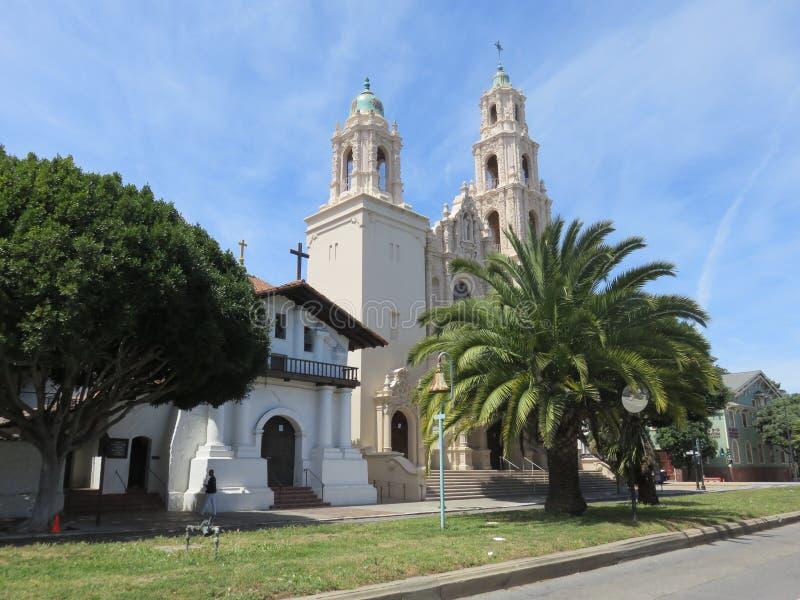 San Francisco Misión Dolores y misión San Francisco imagenes de archivo