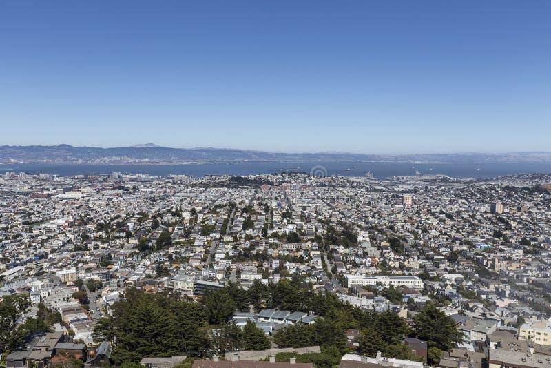 San Francisco Mission District imagens de stock