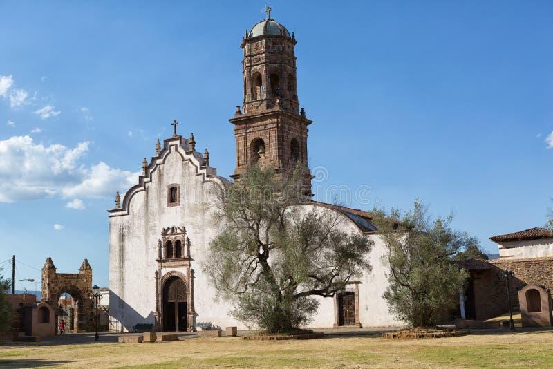 The San Francisco monastery in Tzintzuntzan Mexico royalty free stock photo
