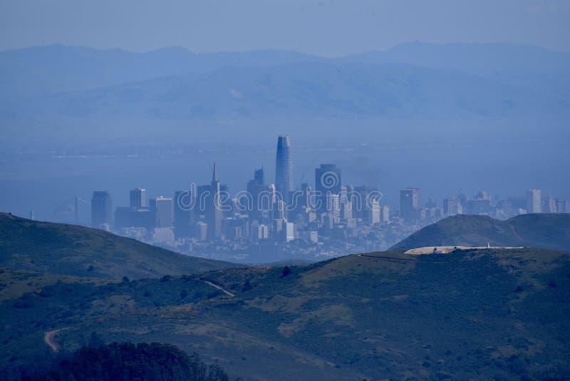 San Francisco From Mount Tamalpais arkivbilder