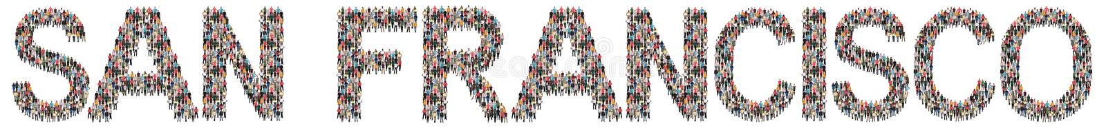 San Francisco multi ethnic group of people stock images