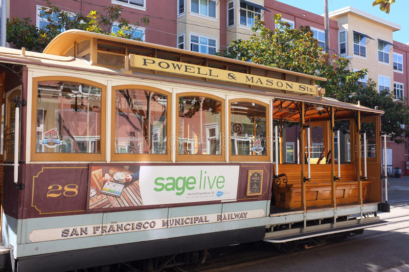 San Francisco Municipal Railway Streetcar royalty-vrije stock foto