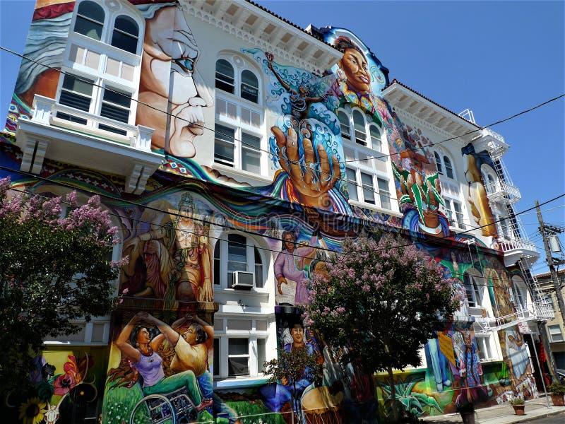 San Francisco mural royalty free stock images