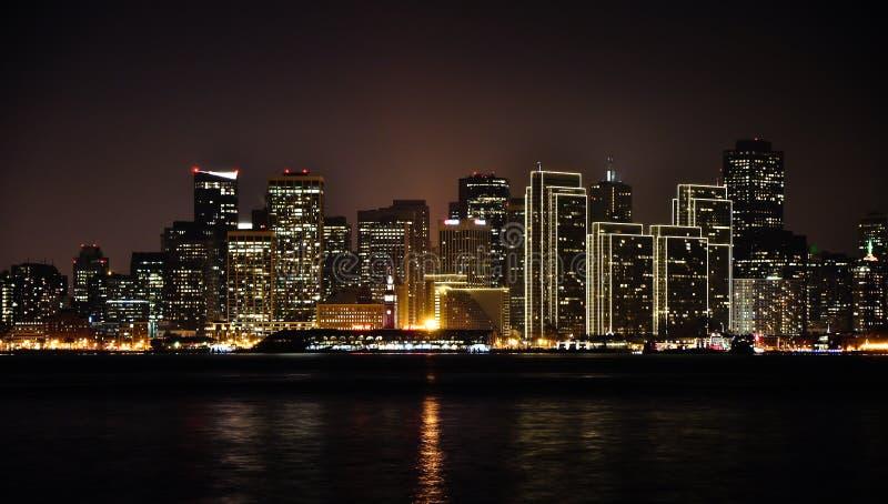 San Francisco na noite fotografia de stock