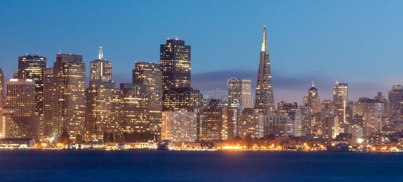 San Francisco Na Noite Foto de Stock Royalty Free