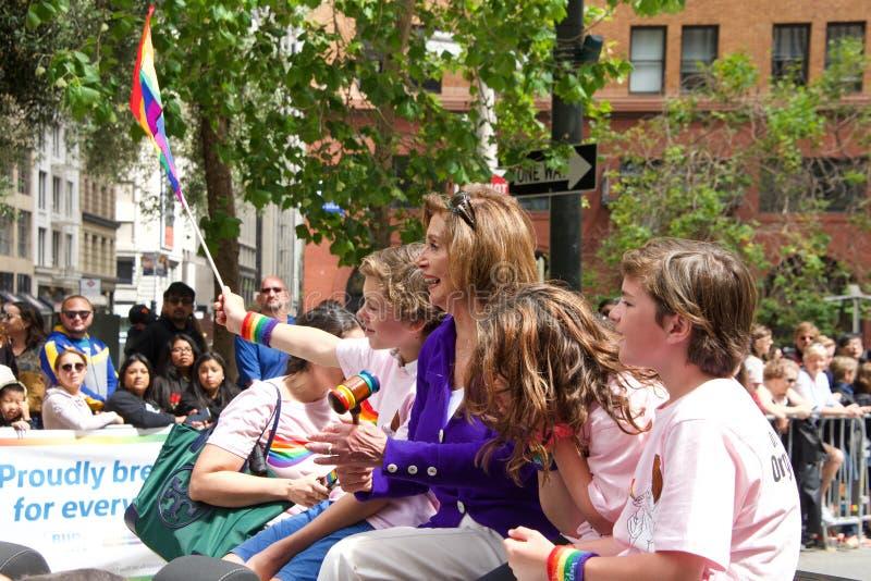 San Francisco negenenveertigste jaarlijks Vrolijk Pride Parade royalty-vrije stock foto