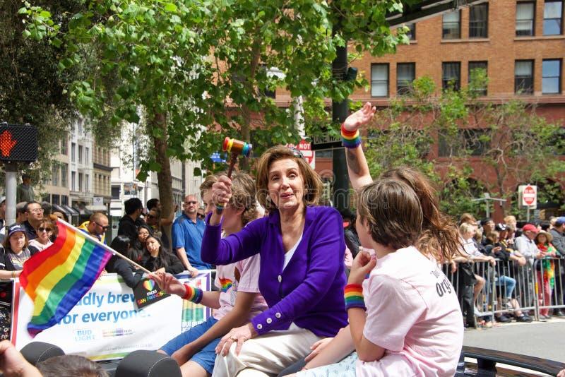 San Francisco negenenveertigste jaarlijks Vrolijk Pride Parade stock foto
