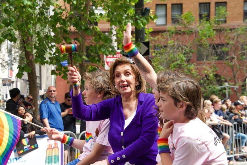 San Francisco negenenveertigste jaarlijks Vrolijk Pride Parade stock fotografie