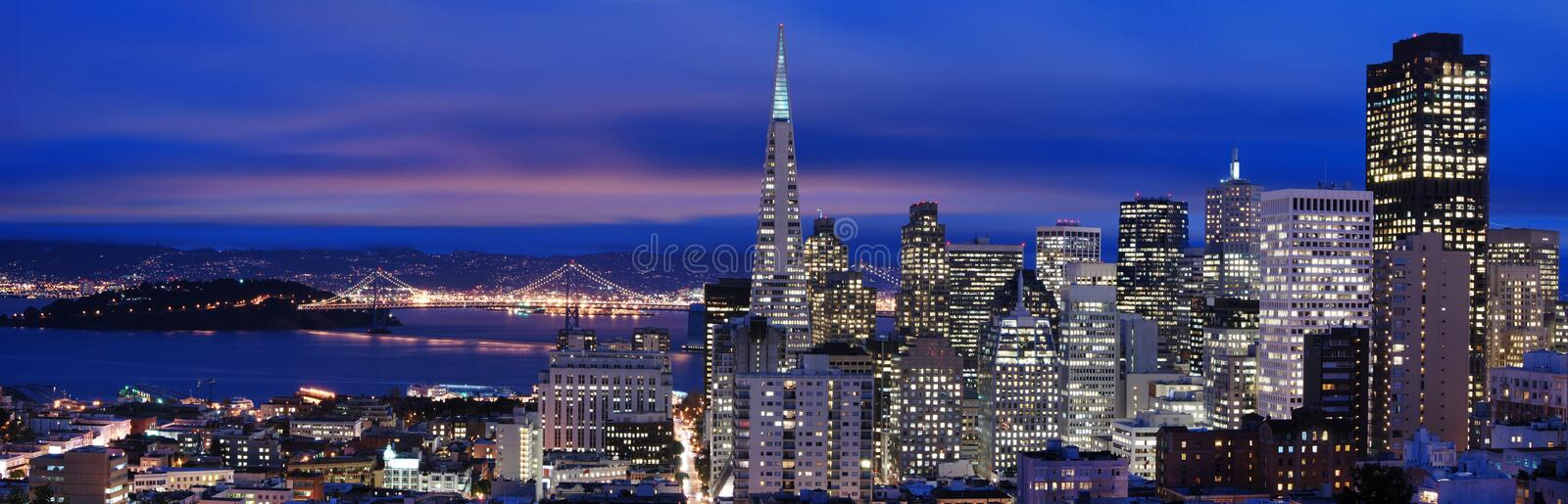 Download San Francisco - Night Panorama 2 Stock Image - Image: 1897437