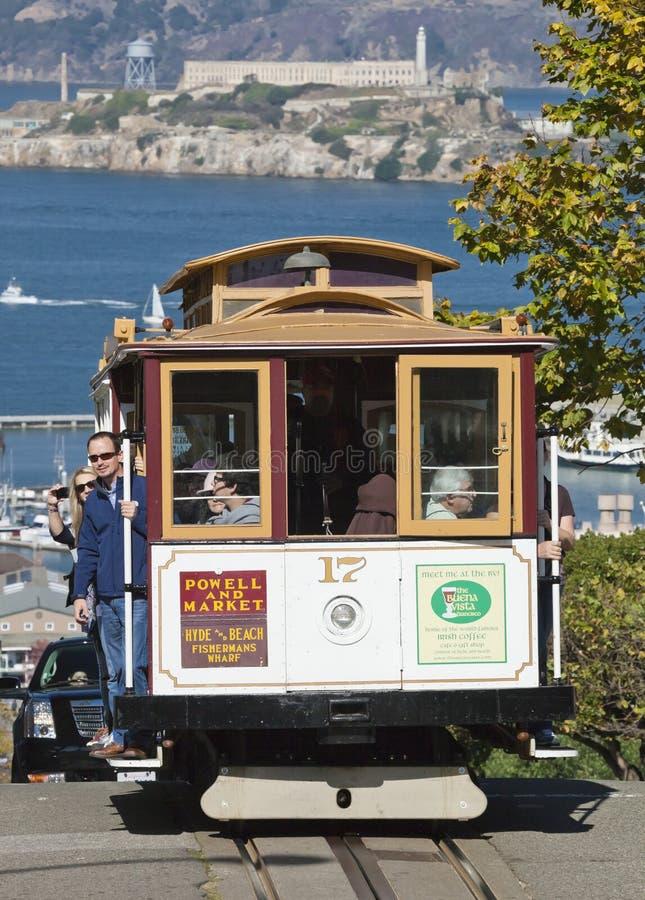 SAN FRANCISCO - spårvagnen för kabelbil royaltyfri foto