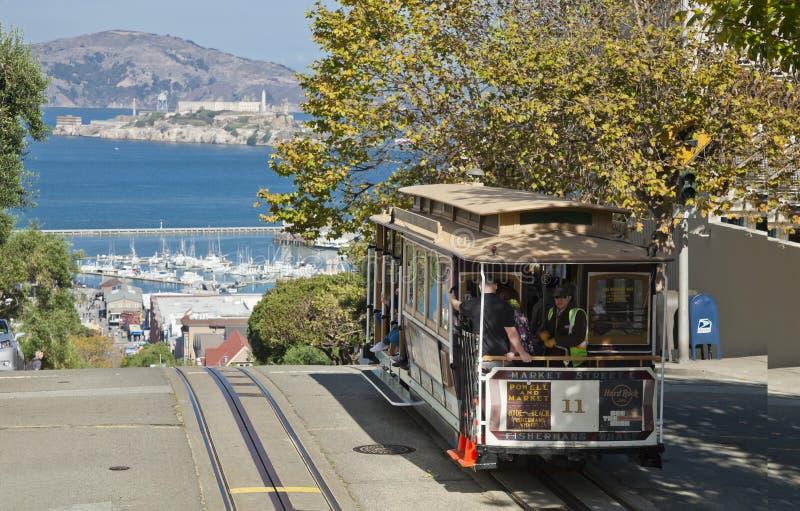 SAN FRANCISCO - o bonde do teleférico imagem de stock