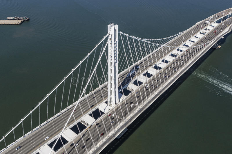 San Francisco Oakland Bay Bridge Aerial royalty-vrije stock afbeelding