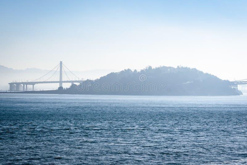 San Francisco Oakland Bay Bridge in Californië, de V.S. royalty-vrije stock afbeeldingen